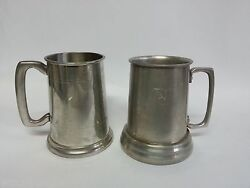 Vintage Hoffritz England The Playboy Club Pewter Beer Mugs Stein L Glass Bunny
