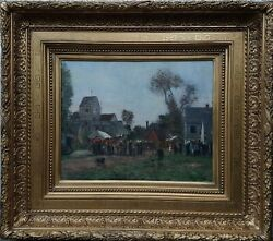 Warville Brissot Toupeau Sheep Shepherd Storm Painting French 19th