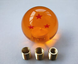 Dragon Ball Z 3 Star 54mm Shift Knob With Adapters Universal Will Fit Most Cars