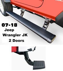 Amp Powerstep Running Boards And Bumper Step For 07-18 Jeep Wrangler Jk 2 Doors