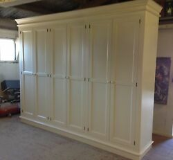 Painted Victorian Style Full Hanging 6 Door Wardrobe - With Plinth