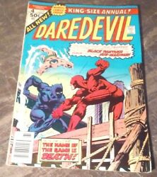 1976 #4 MARVEL KING SIZE ANNUAL DAREDEVIL SUPER HERO COMIC BOOK BLACK PANTHER