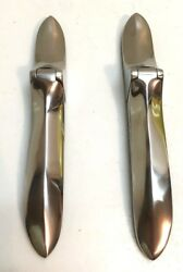 Plymouth Dodge Desoto Chrysler Trunk / Boot Hinge Set Stainless 1937-1939
