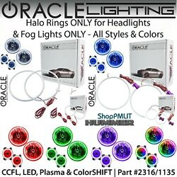 Oracle Halos For Headlights And Fog Lights For 06-10 Hummer H3 And H3t All Colors