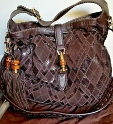 GUCCI WOMEN'S NEW JACKIE SUEDE S.PATCHAYERSMARG.HOBO HANDBAG REMOVAB STRAP NWT