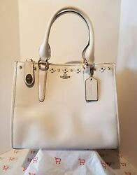 Coach F37400 Crosby Carryall in Floral Rivets Leather - LICHALK