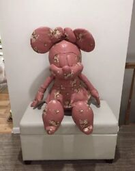 COACH X DISNEY MINNIE MOUSE DOLL F30855 Pink Leather WFlowers  XL Size