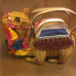 New unused Kate Spade New York rare camel basket back fringe (198