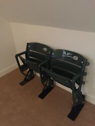 Pair Of Seats Mlb And Chicago Cubs Authenticated And Signed By Theo Epstein