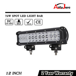 12 inch 72W LED Light Bar Work Driving Offroad Combo Lamp 4x4 Truck Trailer Boat
