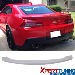 Fits 14 15 Chevy Camaro Coupe OE Factory Low Blade Flush Trunk Spoiler - ABS