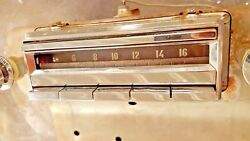 1955 Cadillac Radio With Knobs And Bezels And Dash Nuts