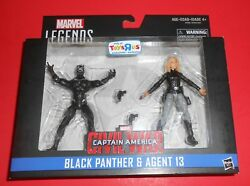 MARVEL LEGENDS BLACK PANTHER & AGENT 13 TRU EXCLUSIVE 2-PACK 3.75 INCH FIGURES
