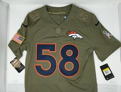Nike Stitched 58 Von Miller Salute To Service Broncos Football Jersey Nwt 160