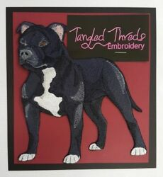 Staffordshire Bull Terrier Pit Bull Dog  Embroidered Patch 5.8
