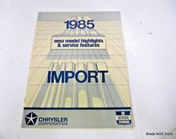 Nos Mopar 1985 Chrysler New Model Highlights And Service Features Import Book
