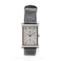 Rare Jaeger Le Coultre Vintage Square Womenand039s Watch Quartz Stainless Steel
