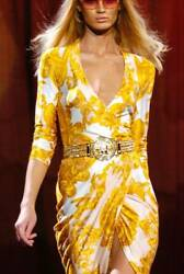Gianni Versace Runway Ss 2005 Sexy Wrap Dress Gown 40 4 Collectible Item