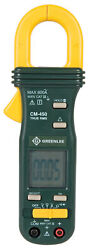 Greenlee Cm-450 Plastic Green 600v Ac/dc Lcd Display Ac Clamp Meter 10 Lx3 W In.