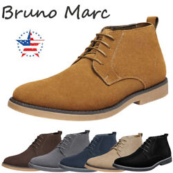 Bruno Marc Men#x27;s Suede Leather Lace Up Classic Desert Oxford Shoes Chukka Boots $31.99