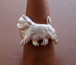 Sterling Silver Cairn Terrier Moving Study Ring