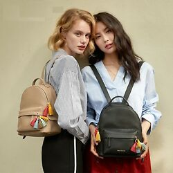 Split Leather Casual Backpack For Girls Casual Soft Handle Tassel Women Bag 2018
