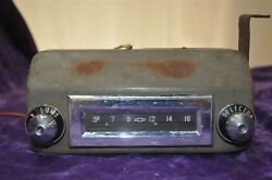 Old Vintage Radio Fits Chevy 1956 Chevrolet 1950andrsquos Untested Nice Knobs