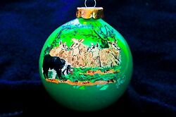Hand Painted Ornament-Border Collie WSheep-#926