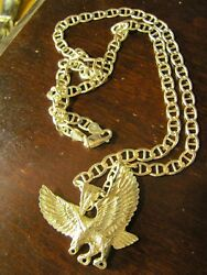Vintage Sterling Silver Large Neck Chain And Pendent