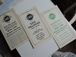 3 Orig 1951-3 Erie Railroad Err Main Line New Jersey Nj Nyc Transit Timetables