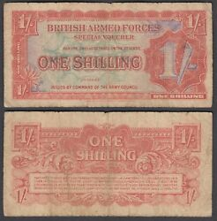Great Britain 1 Shilling 1948 F Condition Banknote P-m18 British Armed Forces