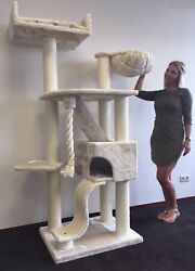 Cat Tree for Large Cats - Cat Mansion Beige - Cat Tree King