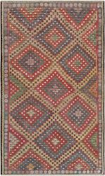 Pasargad Vintage Kilim Collection Hand-woven Lamb's Wool Rug- 6' 0 X 10' 5