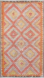 Pasargad Vintage Kilim Collection Hand-woven Lamb's Wool Rug- 5' 11 X 10' 10