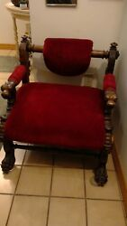 Victorian Walnut Low Chair With Swiveling Back 1880
