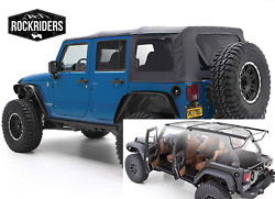 Oe Style Complete Soft Top And Hardware 07-18 Jeep Wrangler Unlimited