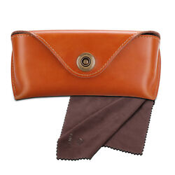 Leather Sunglasses Eyeglasses Glasses Case Eyewear Pouch Shell w cleaning cloth $8.19