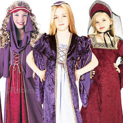 Royal Princess Girls Fancy Dress Medieval Book Week Childrens Kids Costumes New