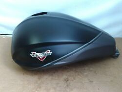 1016149-1354 Victory Cross Country Flat Black Gray Graphics Gas Tank