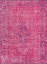 Pasargad Vintage Overdye Collection Hand-knotted Lamband039s Wool Rug- 9and039 8 X 13and039 3
