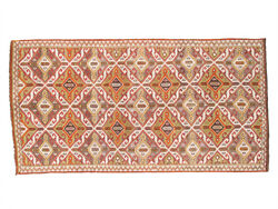 Pasargad Vintage Kilim Collection Hand-woven Lamb's Wool Rug- 5' 4 X 10' 4