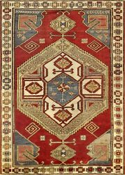 Pasargad Vintage Kazak Collection Hand-knotted Lamb's Wool Rug- 4' 1 X 5' 9