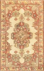 Pasargad Vintage Kysery Collection Hand-knotted Lamb's Wool Rug- 4' 5 X 7' 4