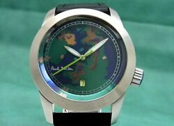 Paul Smith PS 30A No.114250 Swiss Limited 250 map dial face automatic watch