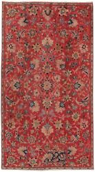 Pasargad Vintage Hamadan Collection Hand-knotted Lamb's Wool Rug- 4' 3 X 8' 10