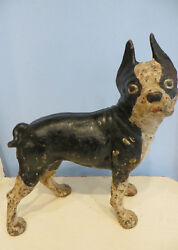 Hubley Cast Iron Boston Terrier Door Stop:  A Big Guy