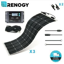 Renogy Highly Flexible 300W 12V Solar Panel Marine Kit Off Grid Battery Charger