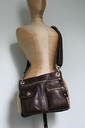 Roots Canada leather crossbody Village tribe bag RETAIL$178