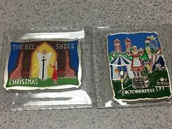 The Red Shoes And Oktoberfest B. H. Mayer 1 Oz Silver Art Bar Enameled Rare
