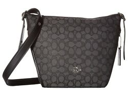 COACH Womens bag small Dufflette in Signature SvBlack SmokeBlack